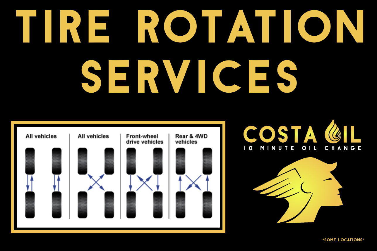 Tire Rotation And Balance Costa Oil 10 Minute Oil Change